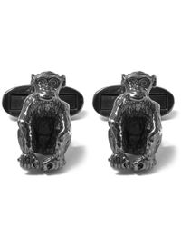 Paul Smith | Metallic Silver-tone Monkey Cufflinks for Men | Lyst