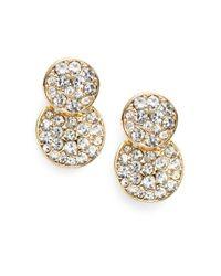 Saks Fifth Avenue - Metallic Pavé Round Drop Earrings - Lyst
