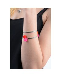 Lee Renee - Metallic Peruvian Bracelet Silver - Lyst