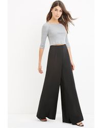 Forever 21 - Black Contemporary Classic Wide-leg Trousers - Lyst