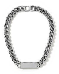 Banana Republic - Metallic Link Id Necklace - Lyst