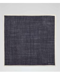 Reiss - Blue Crespa Wool Pocket Square for Men - Lyst