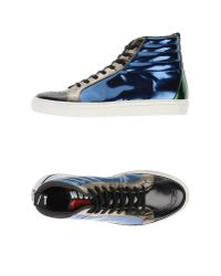 MSGM - Blue High-tops & Trainers for Men - Lyst