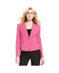 Tahari - Pink Single-Button Blazer - Lyst