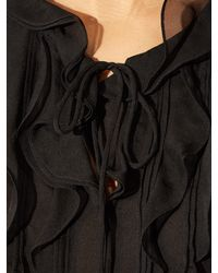 Diane von Furstenberg - Black Kolby Blouse - Lyst