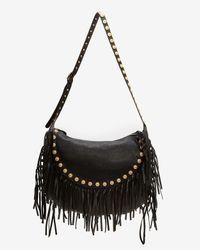 Valentino - Black Medallion Fringe Leather Hobo - Lyst