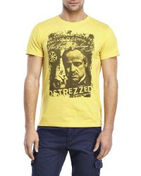 Dstrezzed - Yellow Godfather Tee for Men - Lyst