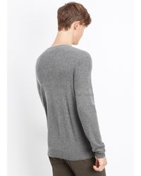 VINCE | Black Wool Cashmere Mixed Stitch Crew Neck Sweater for Men | Lyst