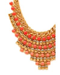 Forever 21 - Pink Beaded Babe Bib Necklace - Lyst