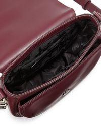 Rebecca Minkoff - Purple Astor Laser-cut Leather Saddle Bag - Lyst