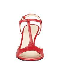 Nine West - Red Gamgam Peep Toe Pumps - Lyst