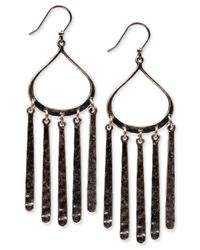 Lucky Brand | Metallic Silver-tone Paddle Chandelier Earrings | Lyst