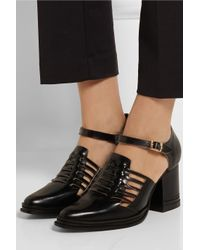 Purified - Black Nix Cutout Leather Ankle Boots - Lyst