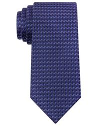 Kenneth Cole Reaction | Blue Neat Slim Tie for Men | Lyst