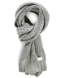 SELECTED | Gray Mottled-grey Shkenny Cable-knit Scarf | Lyst
