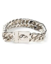 Alexander McQueen - Metallic Skull Chain Bracelet for Men - Lyst