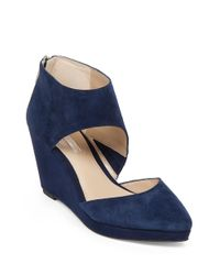 BCBGeneration | Blue Millbrook Suede Wedge | Lyst