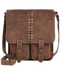 Patricia Nash | Brown Distressed Vintage Armeno Messenger Bag | Lyst