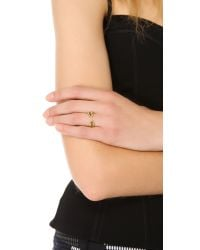 Aurelie Bidermann - Metallic Wheat Cobs Ring - Lyst