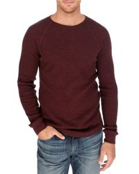Lucky Brand - Red Thermal Crewneck Shirt for Men - Lyst