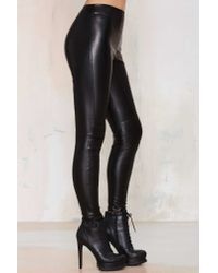 Nasty Gal - Black Ride Or Die Moto Leggings - Lyst