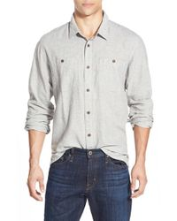 Patagonia | Gray 'back Step' Regular Fit Hemp & Organic Cotton Sport Shirt for Men | Lyst