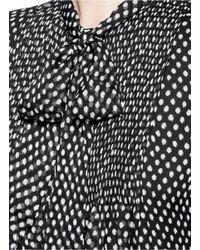 Diane von Furstenberg - Multicolor 'marjorie' Polka Dot Silk Georgette Pussybow Blouse - Lyst