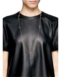 Eddie Borgo | Metallic Opal Glass Cone Necklace | Lyst