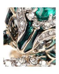 Roberto Cavalli - Multicolor Crystal-embellished Ring - Lyst