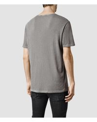 AllSaints - Gray Mattiaf Crew T-shirt for Men - Lyst