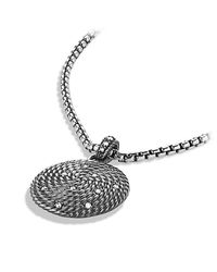 David Yurman | Metallic Cable Coil Small Pendant With Diamonds | Lyst