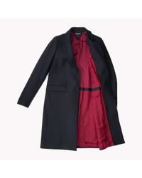Tommy Hilfiger - Blue Wool Blend Coat - Lyst