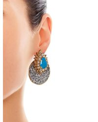 Shourouk - Blue Luna Crystal-Embellished Earrings - Lyst