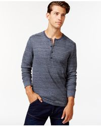 Alternative Apparel | Blue Space-dyed Frontier Henley for Men | Lyst