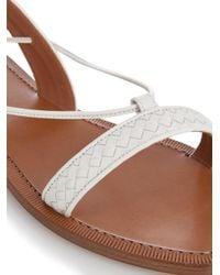 Bottega Veneta - White Intrecciato Woven Leather Sandals - Lyst