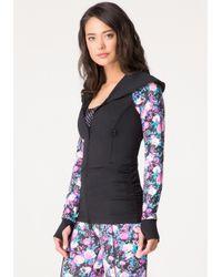 Bebe - Blue Pop Floral Long Jacket - Lyst