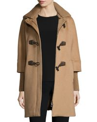 Cinzia Rocca | Brown Alpaca-blend Toggle-front Jacket | Lyst