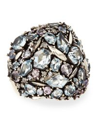 Alexis Bittar Fine - Metallic Cool Heather Marquise Multistone Cluster Dome Ring with Diamonds - Lyst