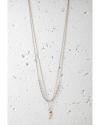 Forever 21 - Metallic Layered Horn Charm Necklace - Lyst