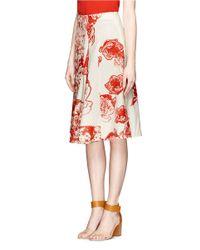 Stella McCartney - Floralprint Gathered Skirt - Lyst