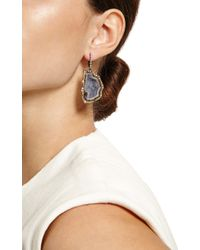 Kimberly Mcdonald - Purple One Of A Kind Geode and Natural Color Diamond Lever Back Earrings - Lyst