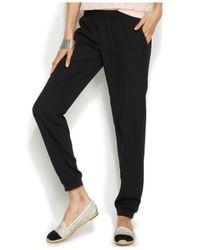 INC International Concepts | Black Jogger Soft Pants | Lyst