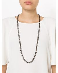 Lanvin - Black Kristin Necklace - Lyst