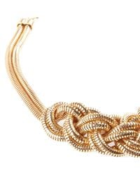 River Island - Metallic Gold Tone Slinky Knotted Necklace - Lyst