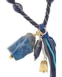 Chan Luu - Blue Lapis Lazuli Beaded Necklace - Lyst
