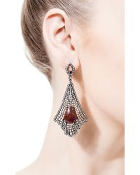 Loree Rodkin - Red Art Deco Spiderweb Earrings - Lyst