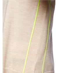 J.Crew   Natural Merino Tipped Side-panel V-neck Sweater   Lyst