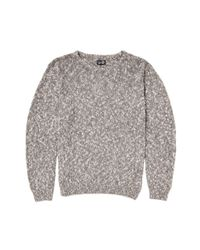Cheap Monday | Gray Crew Knit Sweater Melange for Men | Lyst