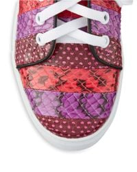 Isa Tapia | Red Round Toe Lace-up Leather Sneakers | Lyst