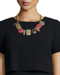 Lafayette 148 New York | Metallic Mixed-station Collar Necklace | Lyst